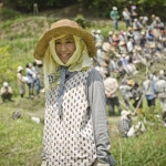 Maki Sobajima, children's farm coordinator at Akame Open Farm School in Nara, Japan (photo, P.M. Lydon / Final Straw)
