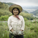 Natural farming teacher Etsko Kagamiyama at her farm in Itoshima, Japan (Photo: P.M. Lydon / Final Straw)