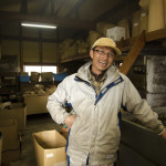 Natural green tea farmer Yoshiki Yamamoto at his processing facility in Koka, Japan (Photo: P.M. Lydon | Final Straw)