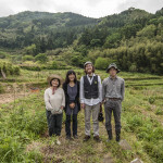 Final Straw Directors Patrick Lydon and Suhee Kang with natural farmers Etsko Kagamiyama and Kenji Murakame at their farm in Itoshima, Japan (Photo: Ohio)
