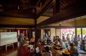 Mr. Matsuzawa lectures at the [HUMAN:NATURE] symposium in Megijima, Japan.