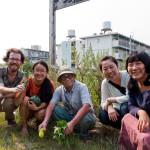 Patrick, Heeyoung, Naho, and Suhee with Kita Osamu at his natural farm in Tokushima, Japan