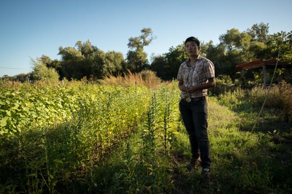 A still image from Final Straw filming with head farmer Kristyn Leach of Namu Farm in San Francisco Bay Area