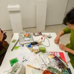 Suhee and Yanli at the Free Food Kit making table
