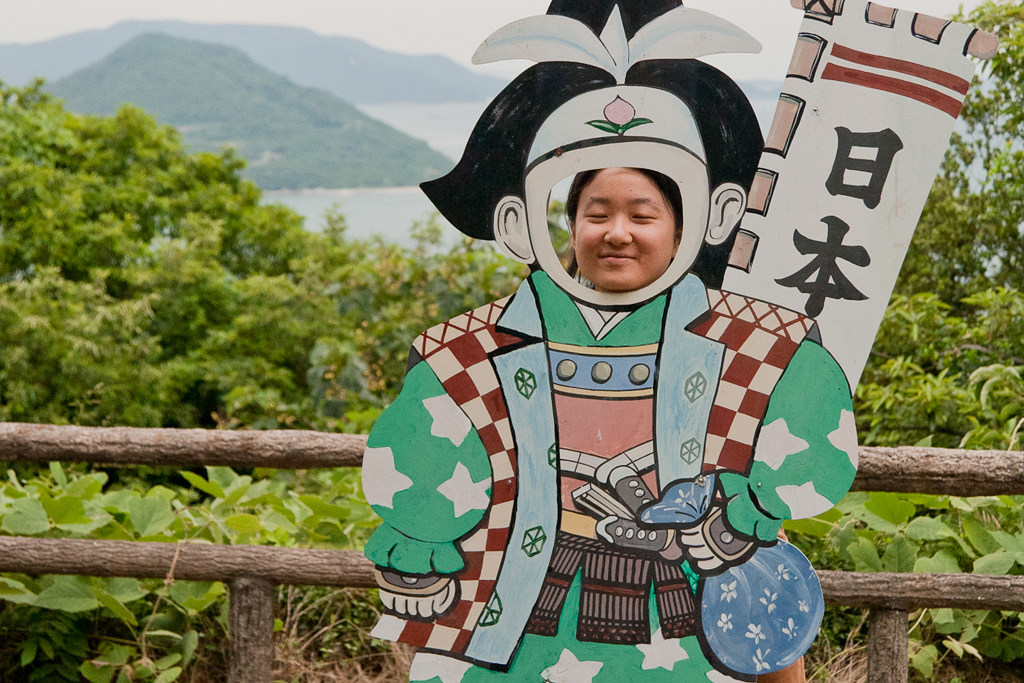 Our Illustration/Animation intern, Heeyoung, as Momotaro.