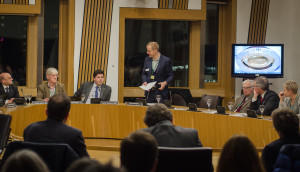 Nick Dearden of the World Development Movement at the Scottish Parliment (Photo: P.M. Lydon | CC BY-SA)