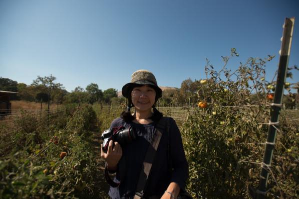 Suhee at Namu farm in the San Francisco Bay Area