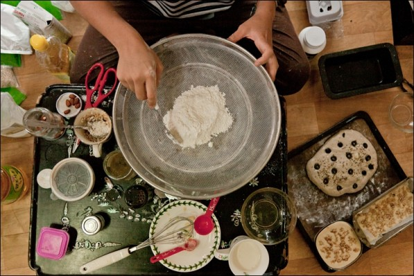 Suhee's baking factory at the home