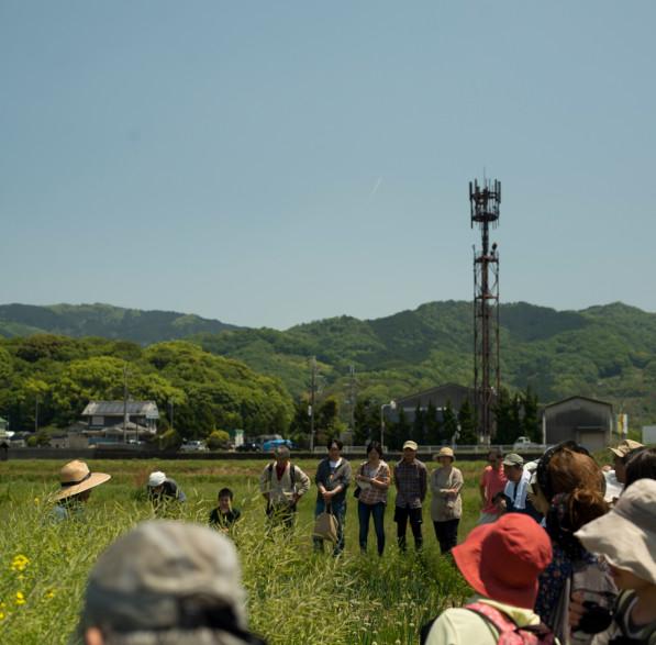 Students visit Kawaguchi's farm