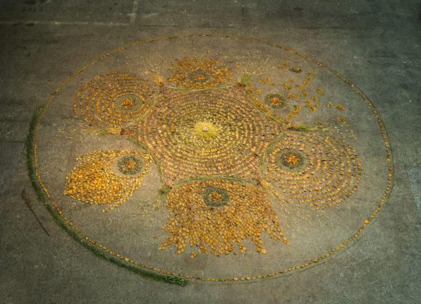 'Osakako Mandala' installation by Patrick Lydon at Contemporary Art Space Osaka, Japan